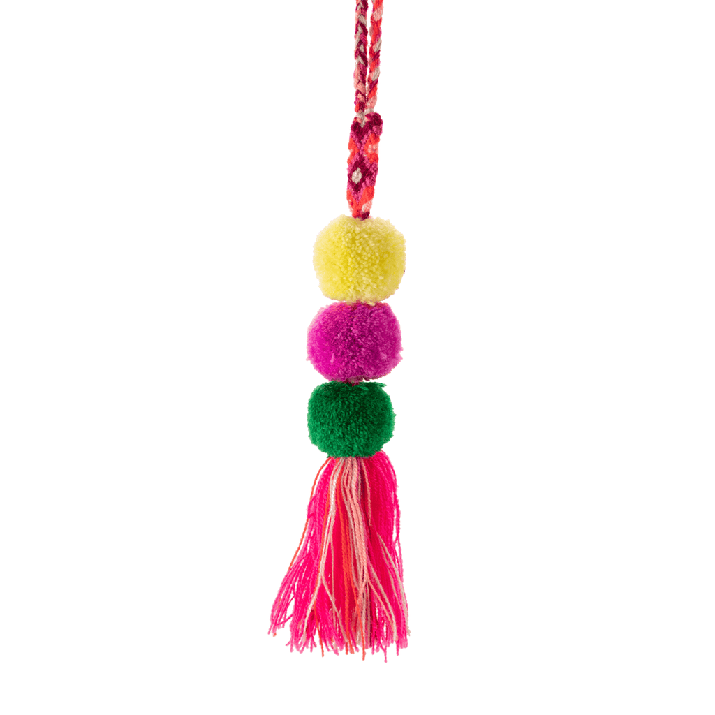 Friendship Pom Drop Tassel in Strawberry - Josephine Alexander Collective