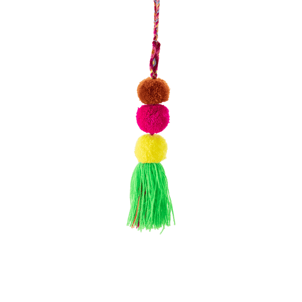 Friendship Pom Drop Tassel in Key Lime - Josephine Alexander Collective