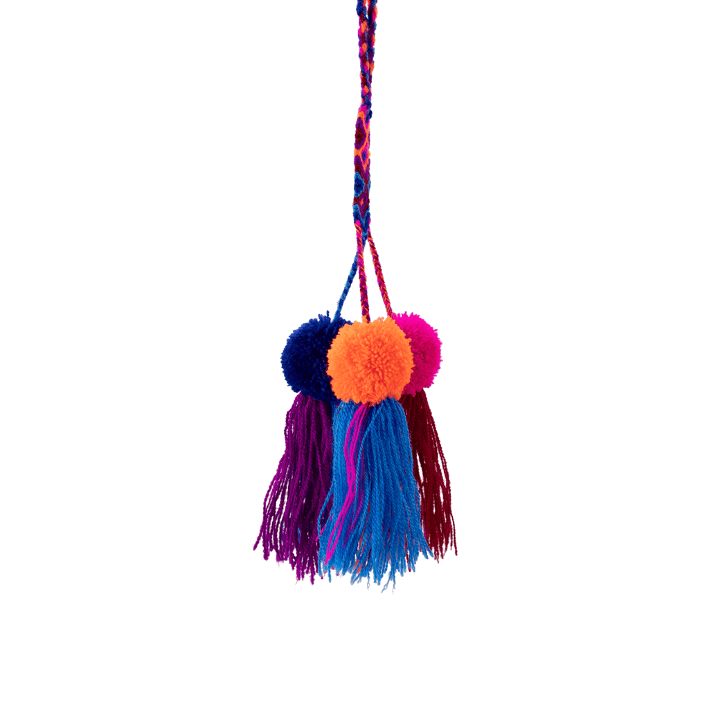 Friendship Pom Tassel in Pink Streak - Josephine Alexander Collective