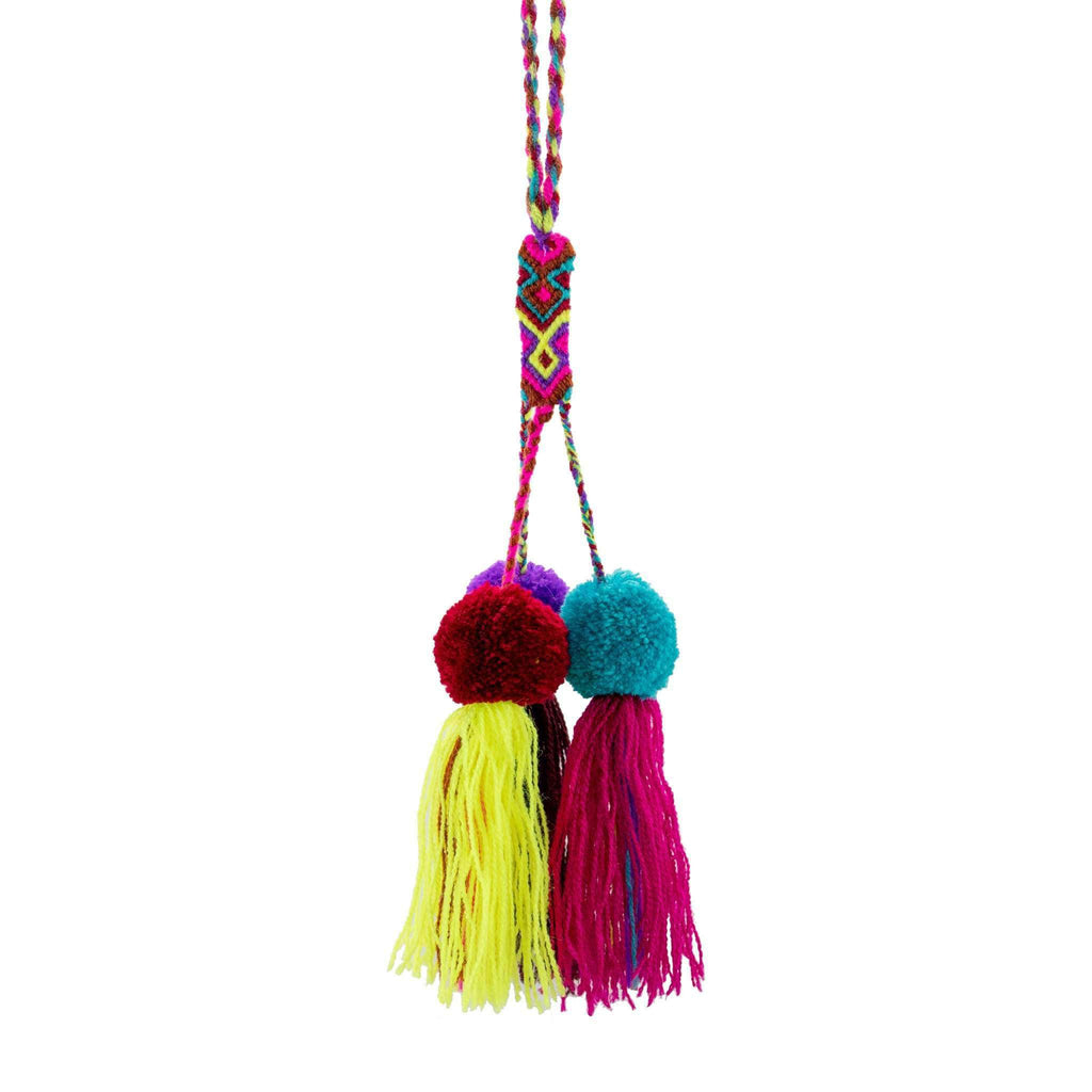 Friendship Pom Tassel in Rainbow Sunshine - Josephine Alexander Collective