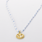 Gold Anchor Beaded Necklace - Josephine Alexander Collective