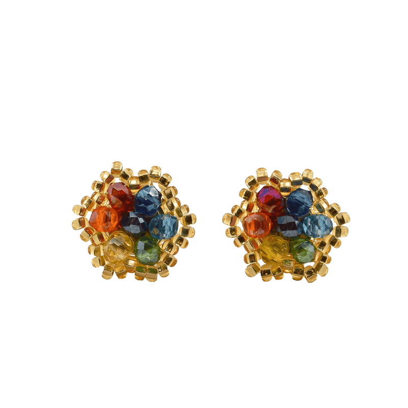 Celebration Stud Earrings in Gold Rainbow - Josephine Alexander Collective