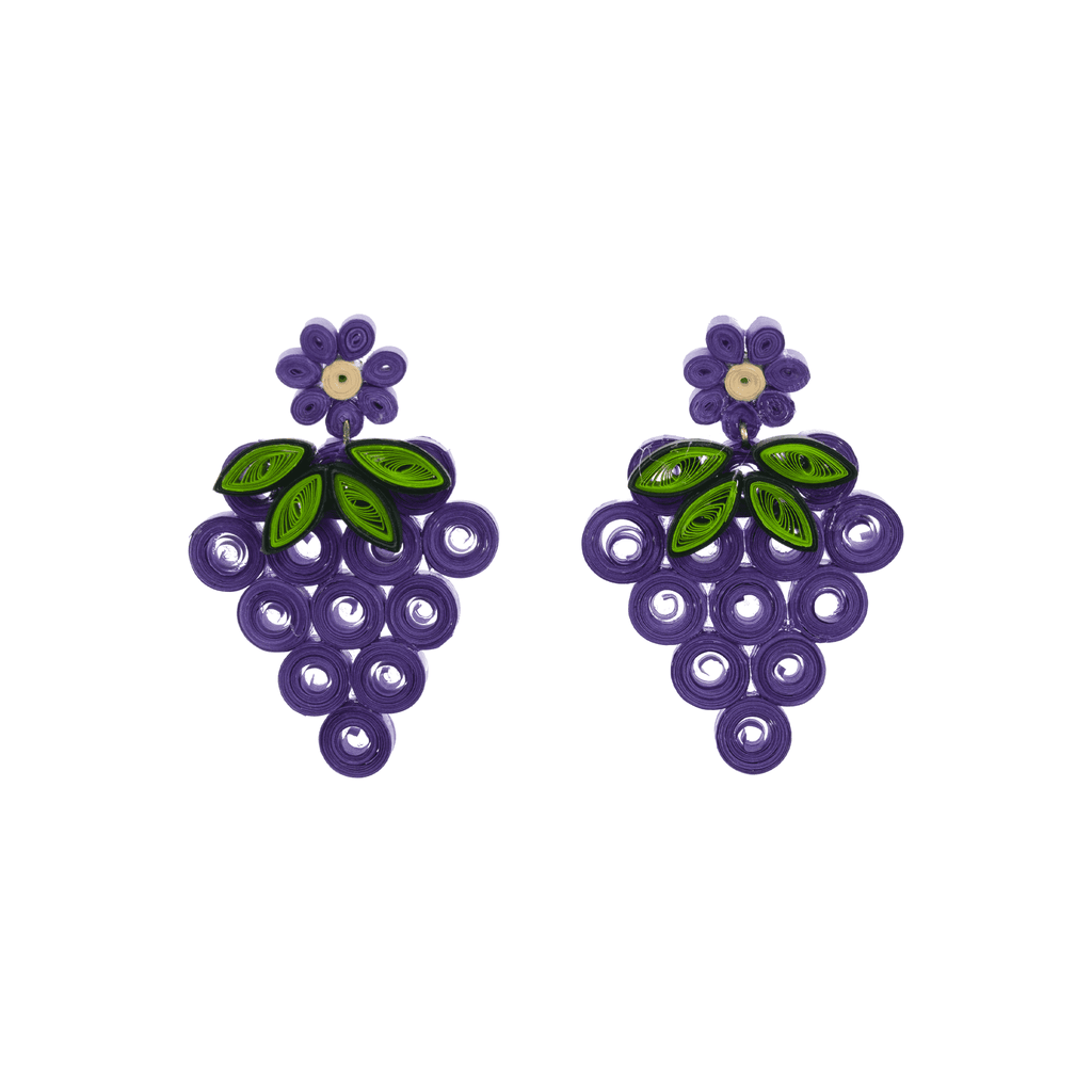 Juicy Grape Quilled Earrings