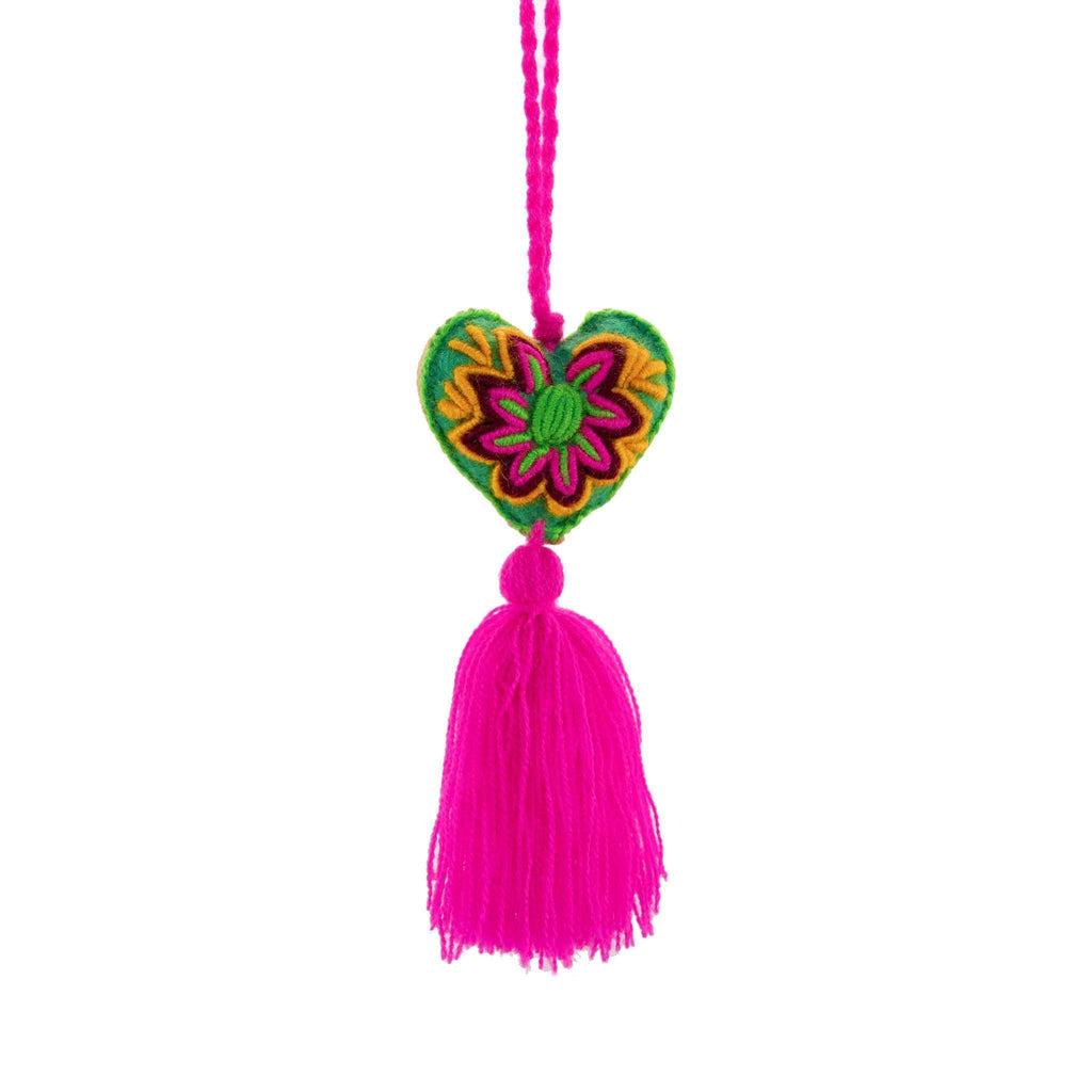 Heart Pom Tassel in Strawberry Ice - Josephine Alexander Collective