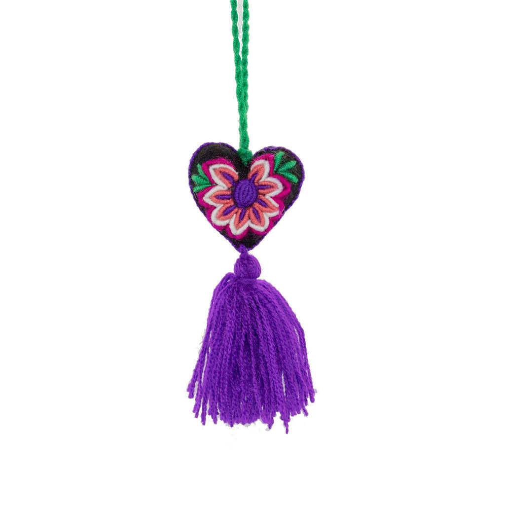Heart Pom Tassel in Wild Grape - Josephine Alexander Collective