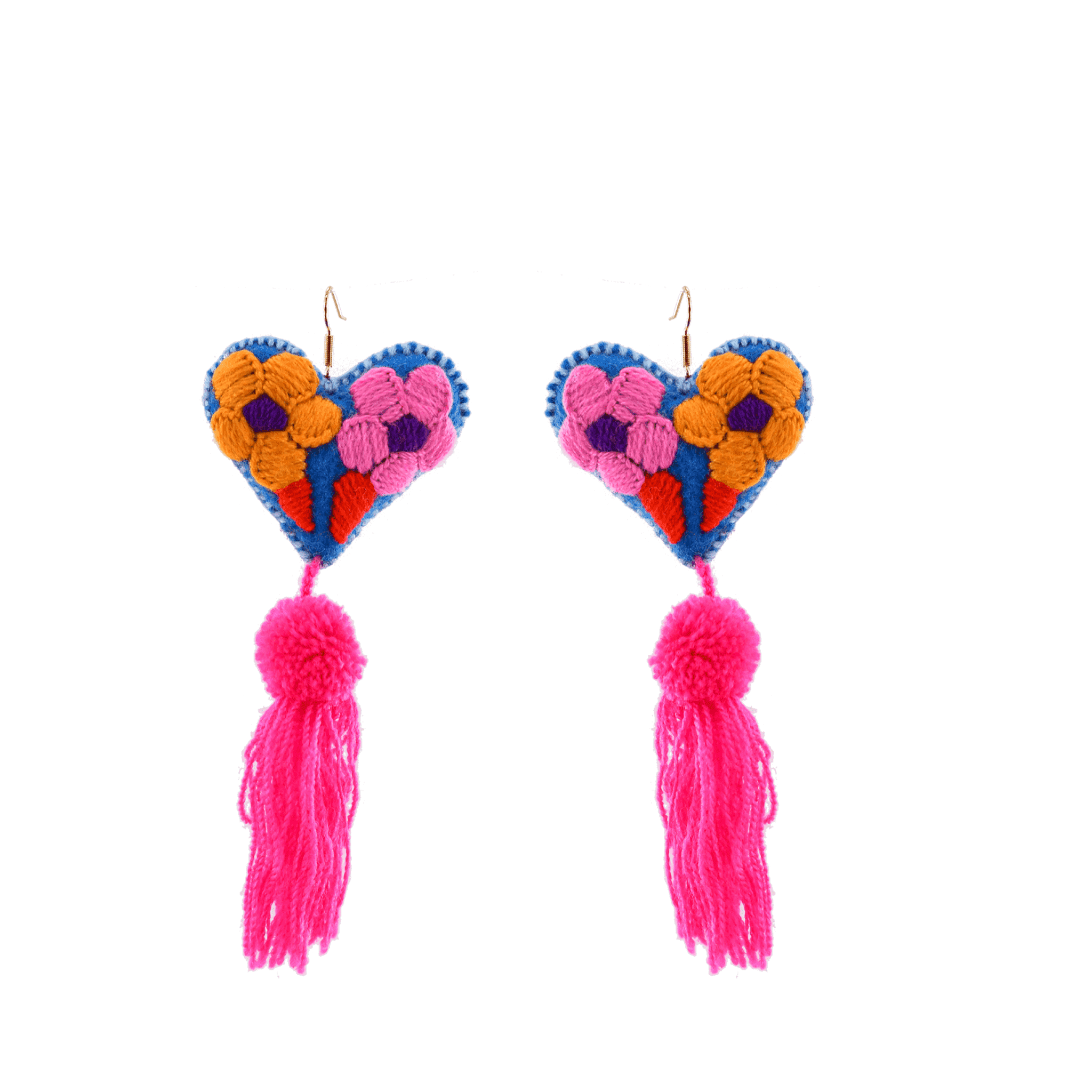 Click to shop all - Heart Tassel Earrings