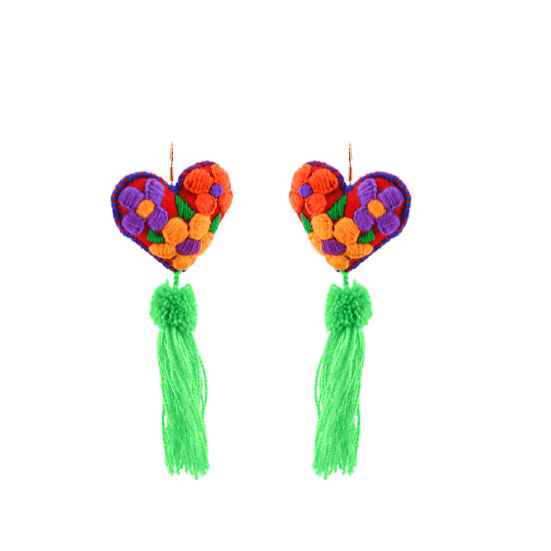 Heart Tassel Earrings # 2
