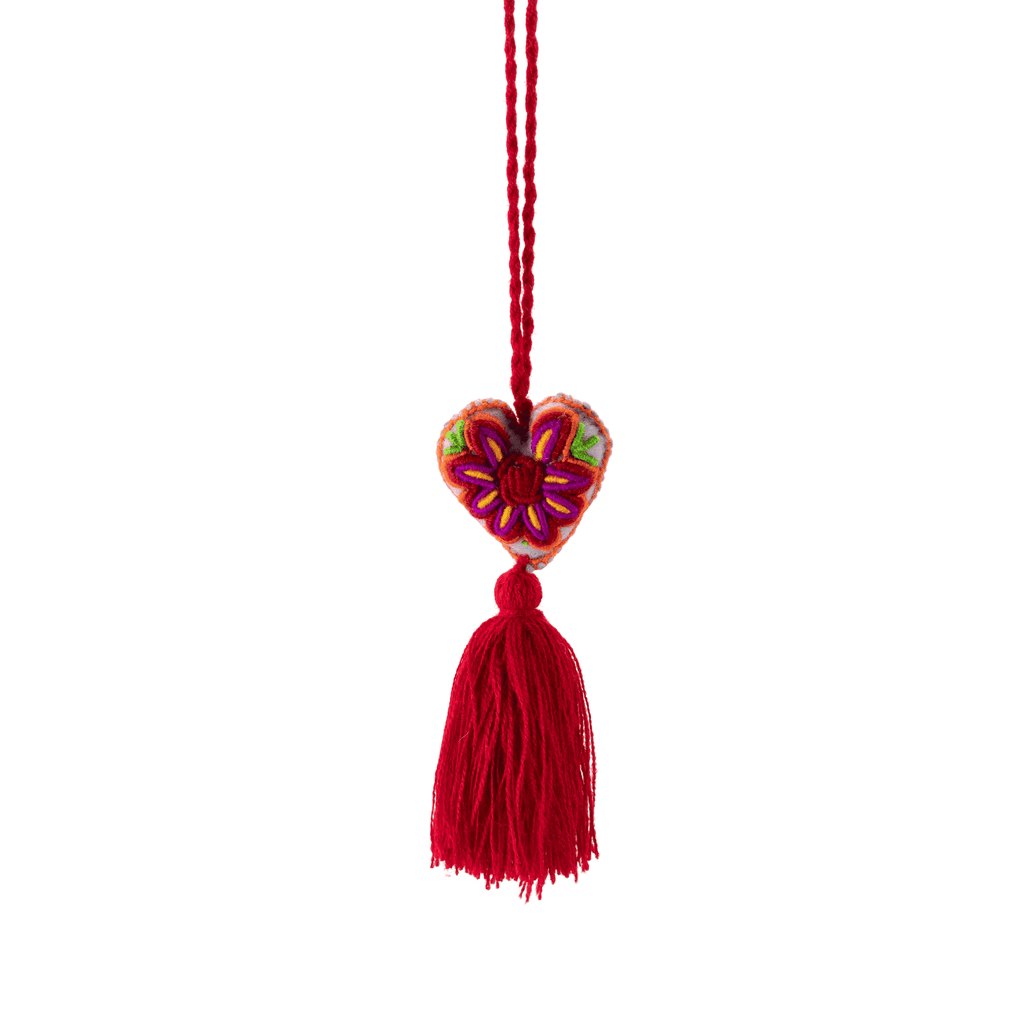 Heart Pom Tassel in Queen of Hearts - Josephine Alexander Collective