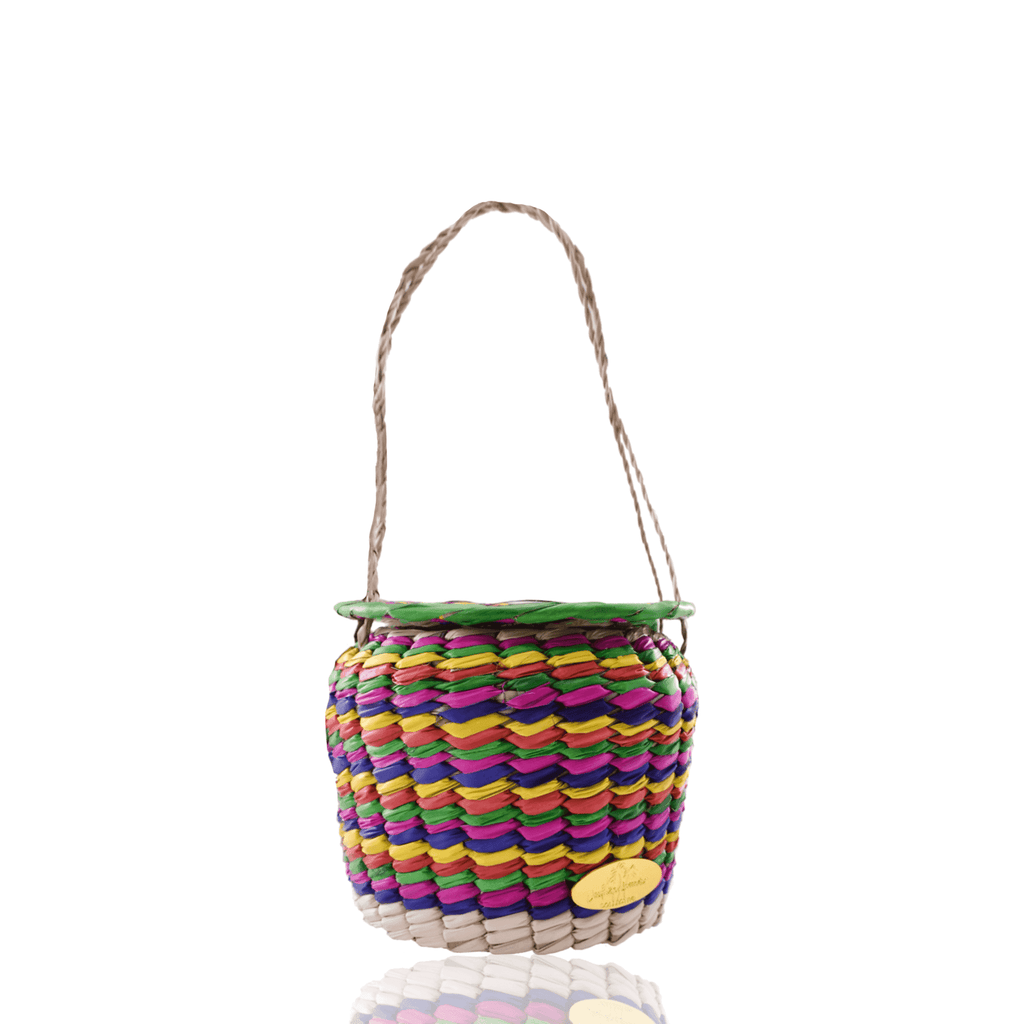 Honey Pot Basket Bag in Rainbow - Josephine Alexander Collective