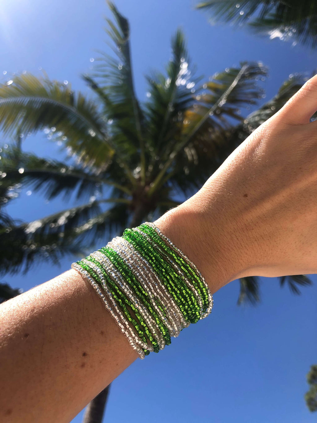 Layered Bracelet in Lime - Josephine Alexander Collective