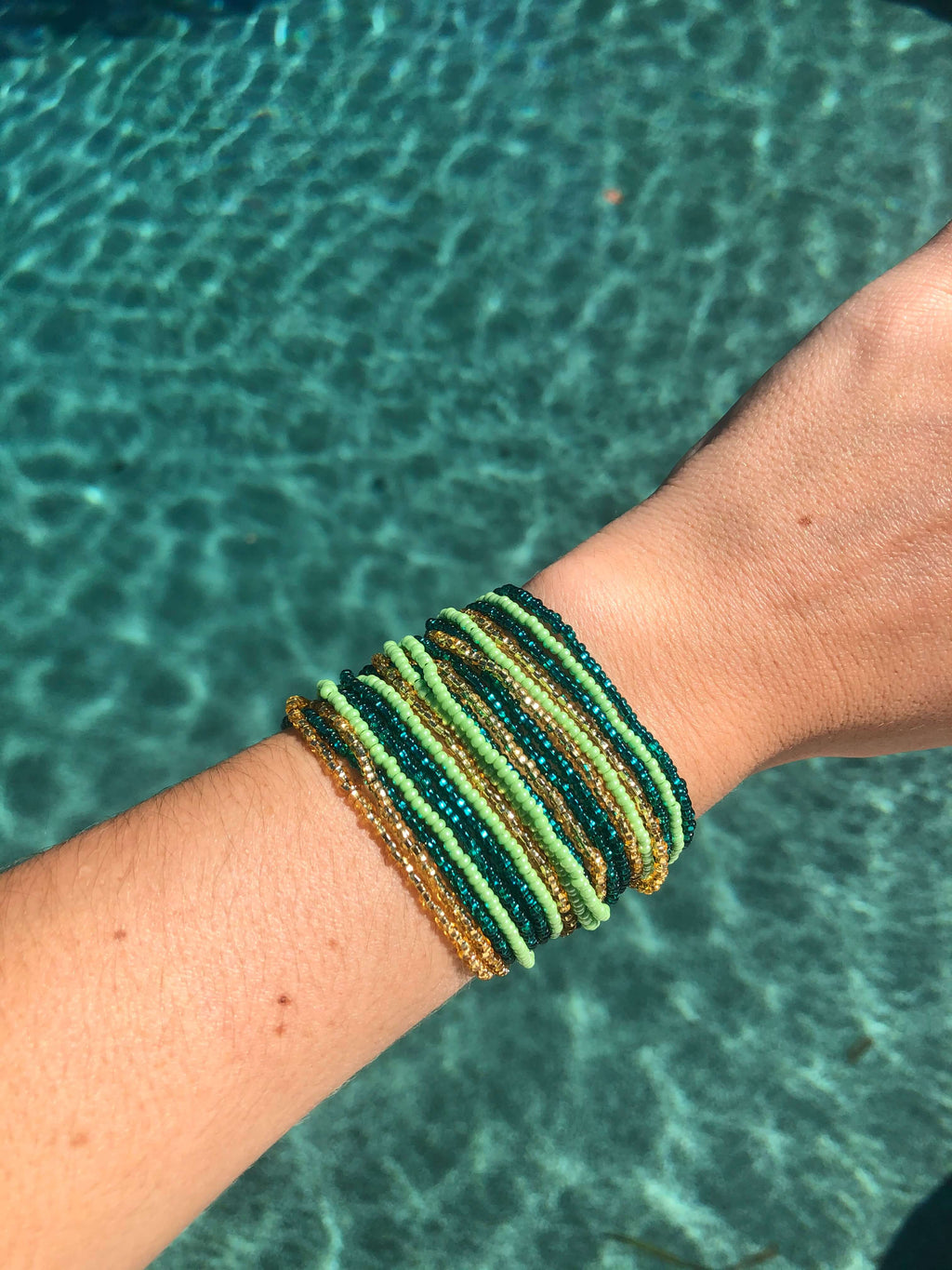 Layered Bracelet in Mermaid - Josephine Alexander Collective