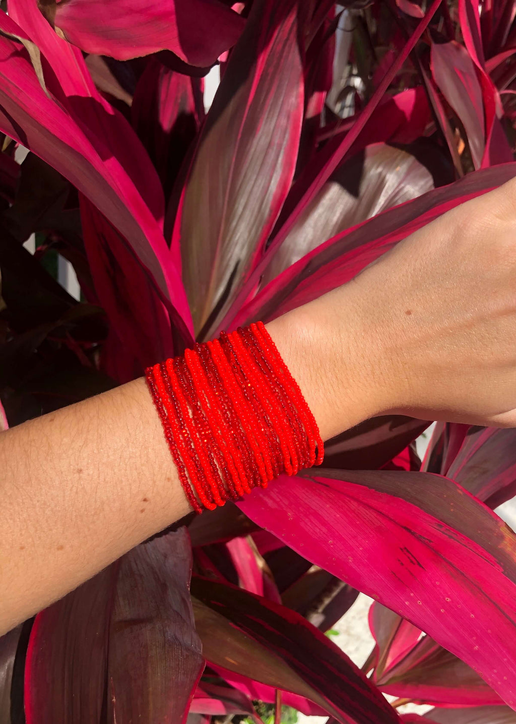 Layered Bracelet in Cherry - Josephine Alexander Collective