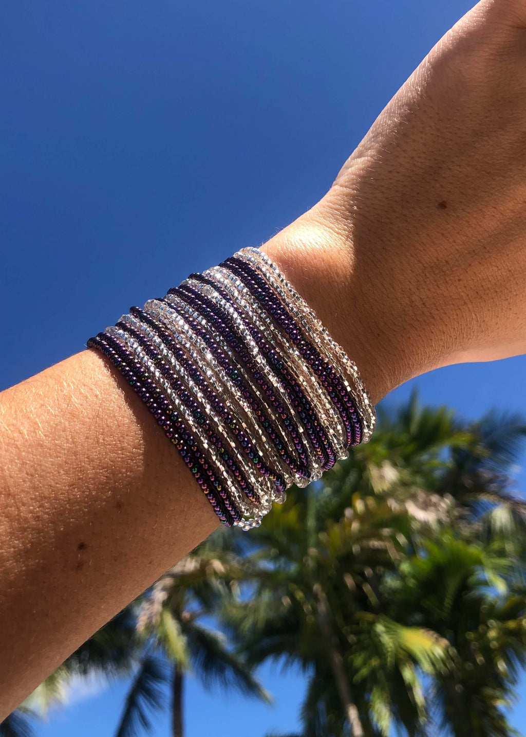 Layered Bracelet in Grape - Josephine Alexander Collective