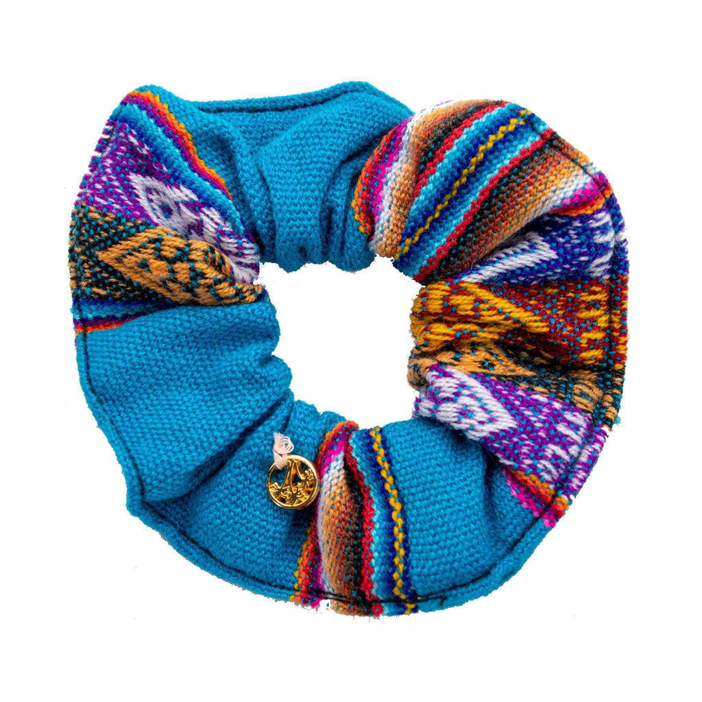 Inca Woven Scrunchie in Calipso - Josephine Alexander Collective