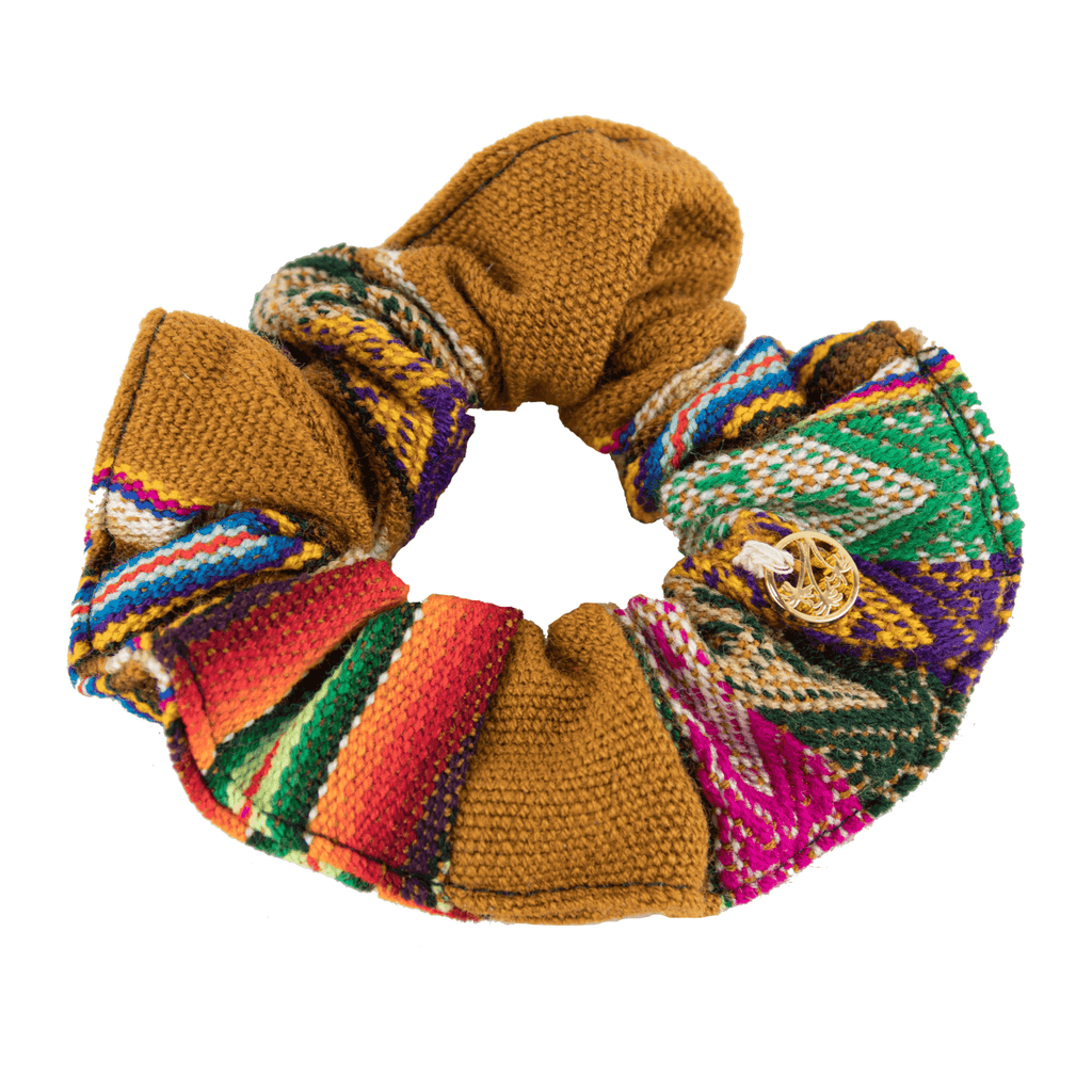 Inca Woven Scrunchie in Cinnamon