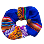 Inca Woven Scrunchie in Royal - Josephine Alexander Collective