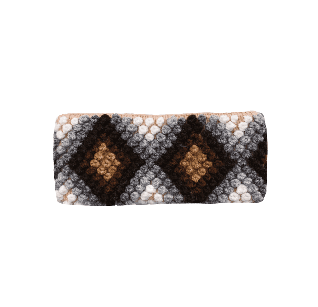 Ivory Nazca Earwarmer in Brown Diamonds