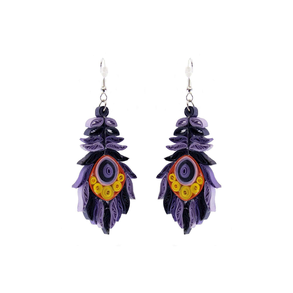Josselyn Quilled Earrings in Purple Starling - Josephine Alexander Collective