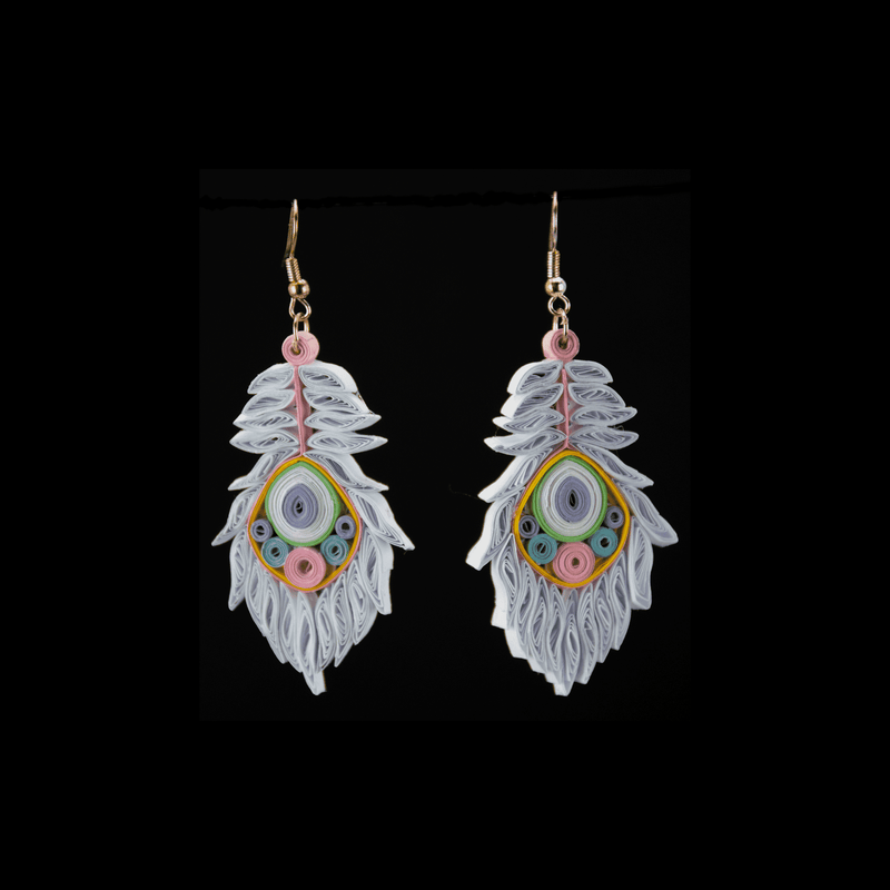 Josselyn Quilled Earrings in Winter Wonderland