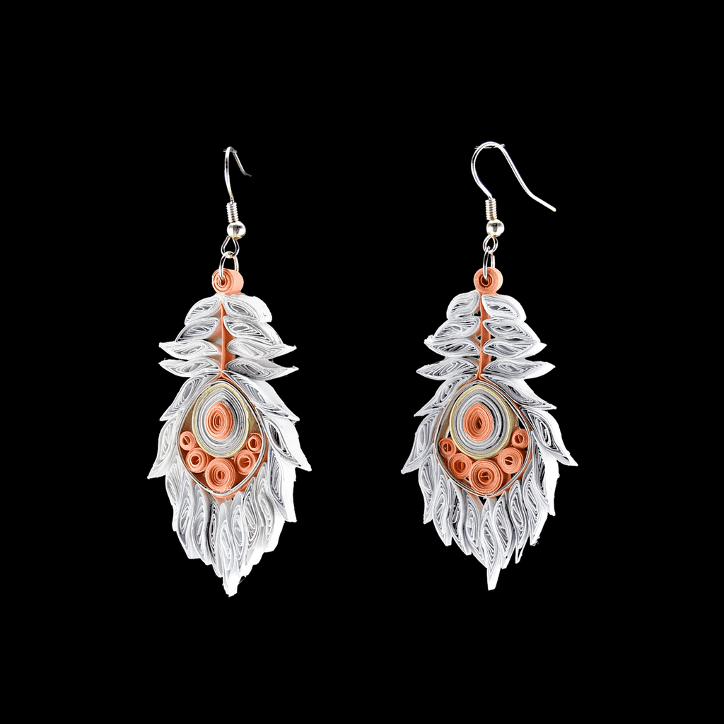 Josselyn Quilled Earrings in Bellini - Josephine Alexander Collective