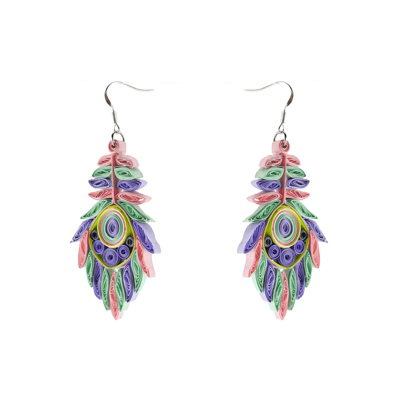 Josselyn Quilled Earrings in Spring - Josephine Alexander Collective