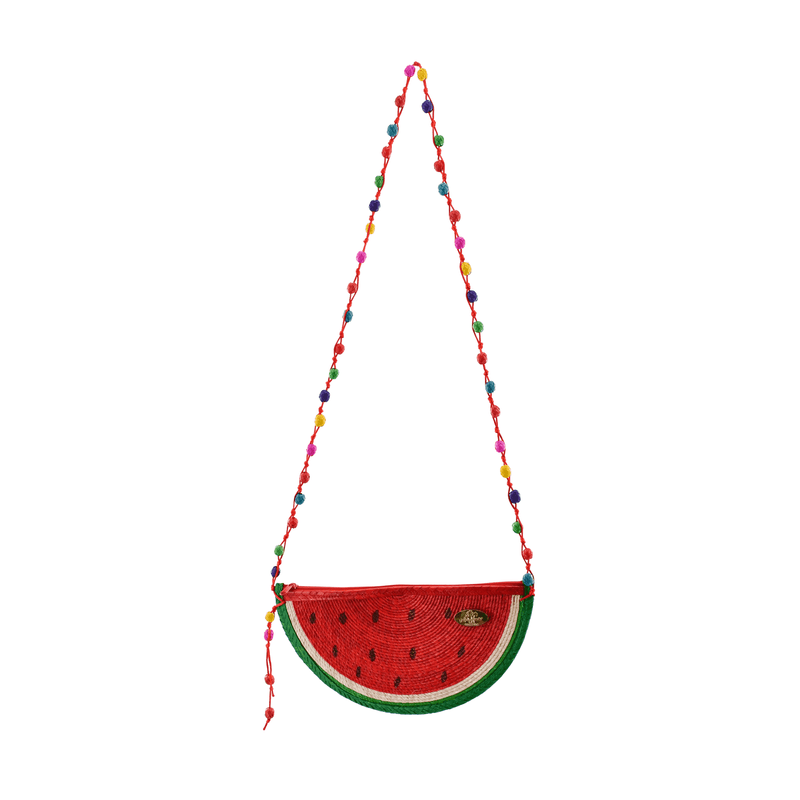 Juicy Watermelon Straw Crossbody