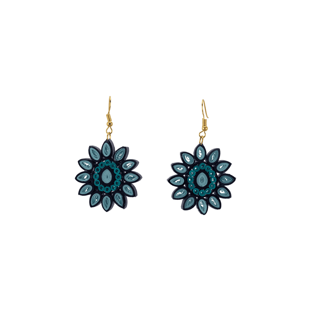 Kathy Quilled Earrings in Snowflake - Josephine Alexander Collective