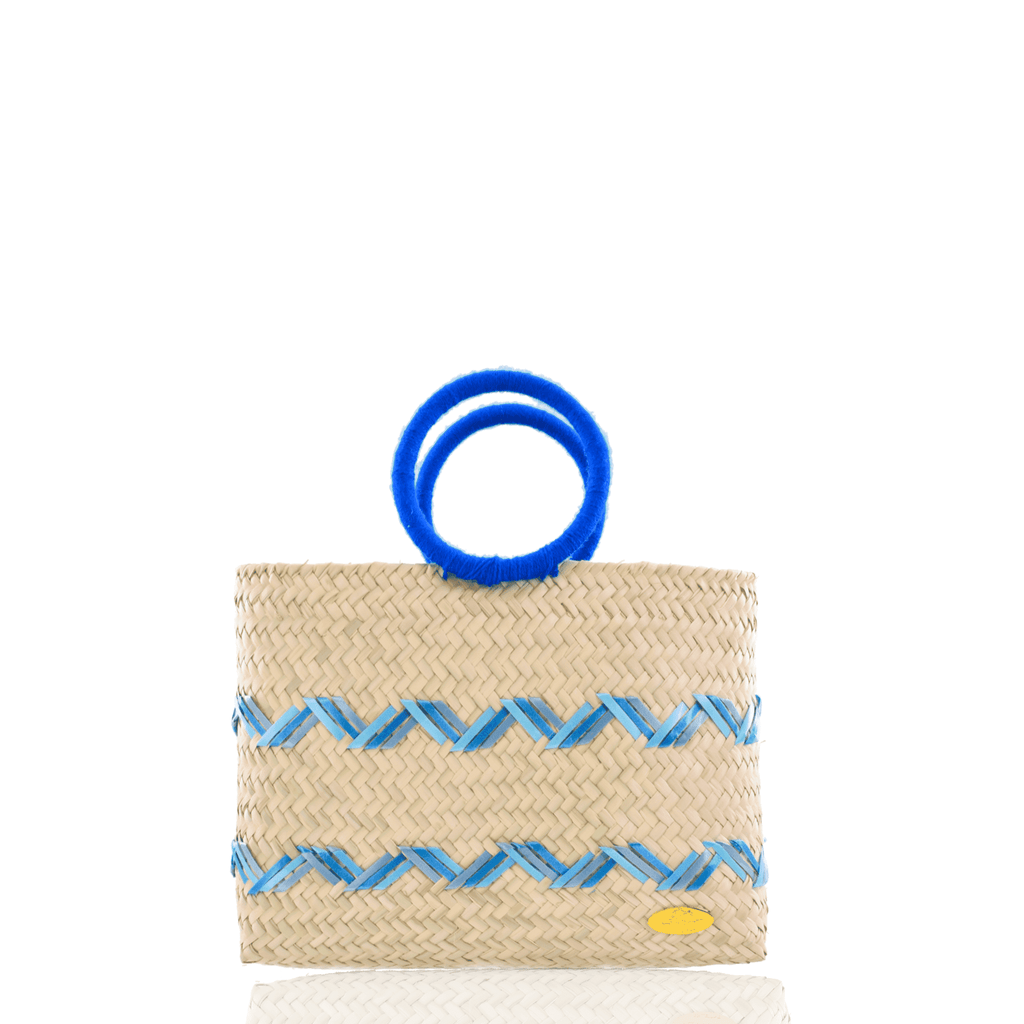 Kelly Straw Handbag in Blue - Josephine Alexander Collective