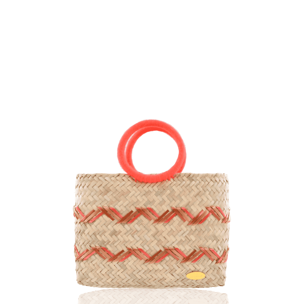 Kelly Straw Handbag in Orange - Josephine Alexander Collective
