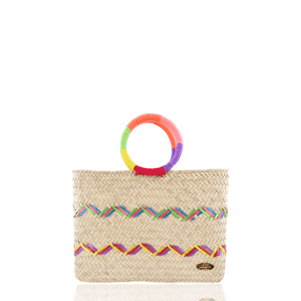 Kelly Straw Handbag in Rainbow - Josephine Alexander Collective