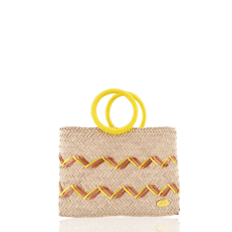 Kelly Straw Handbag in Yellow - Josephine Alexander Collective