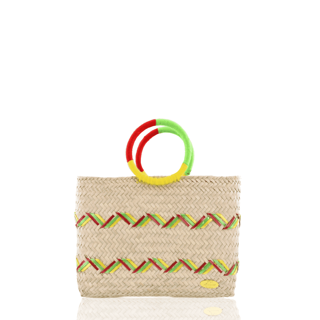 Kelly Straw Handbag in Yellow, Green and Red - Josephine Alexander Collective