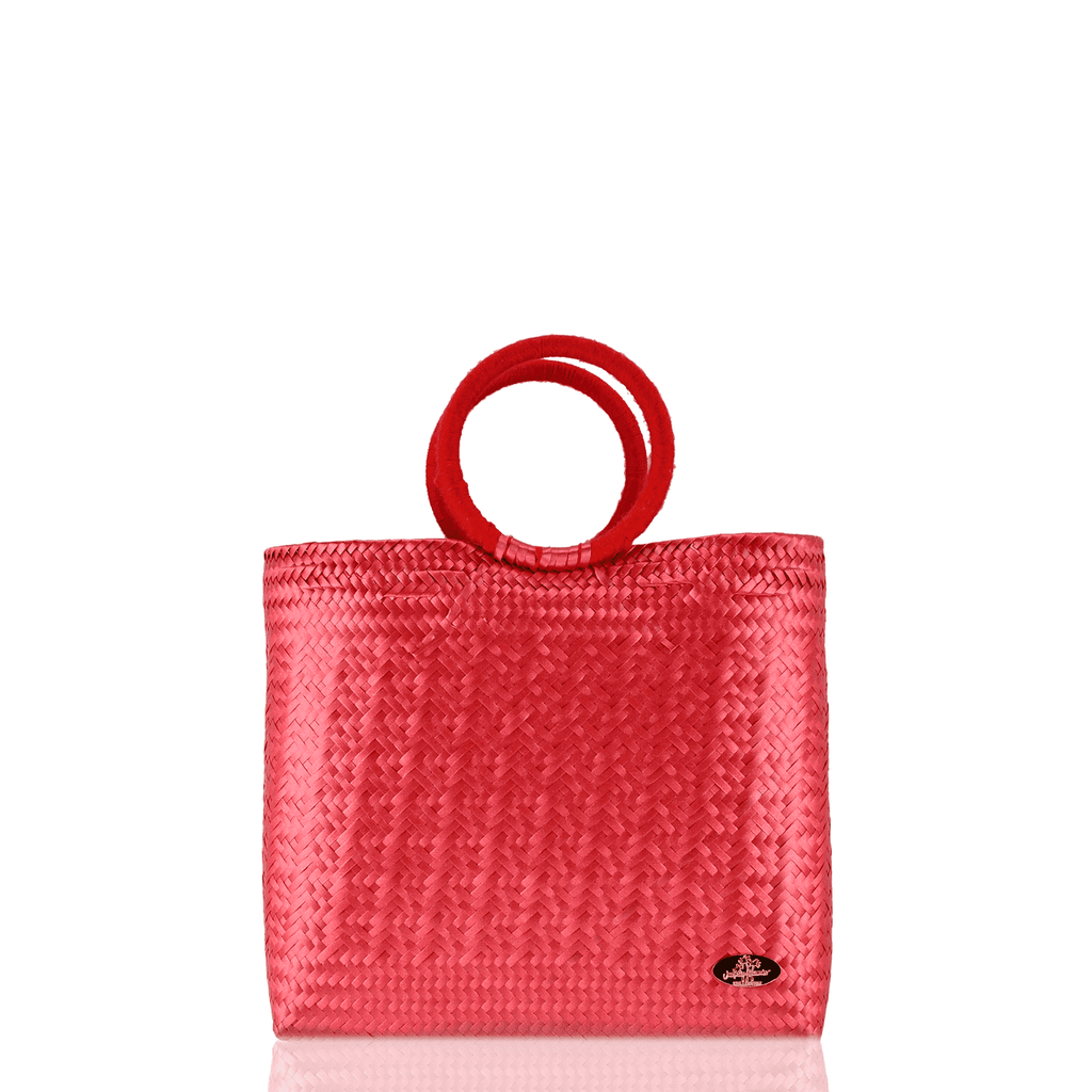 Kelly Woven Bag in Red - Josephine Alexander Collective