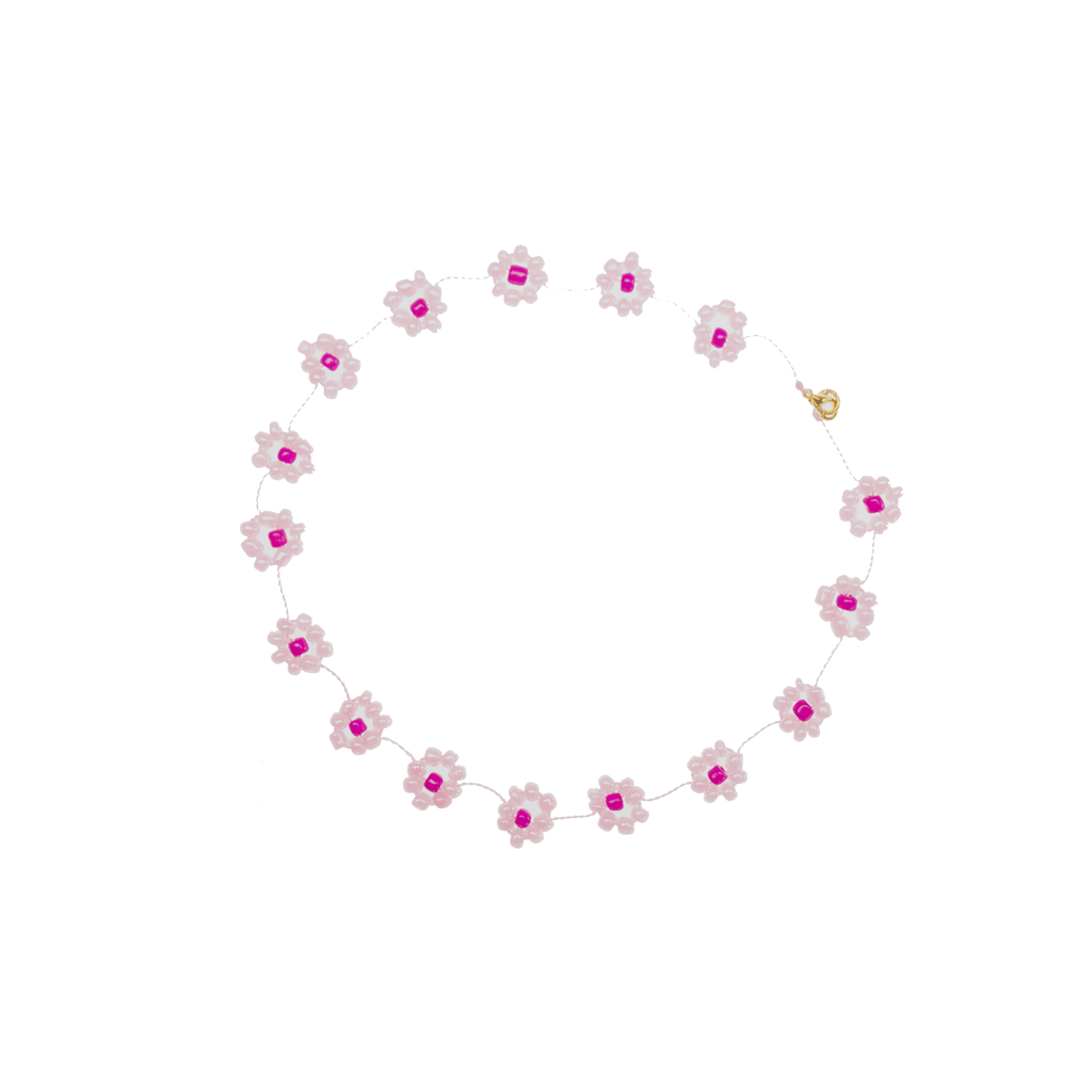 Large Daisy Chain Necklace Light Pink - Josephine Alexander Collective