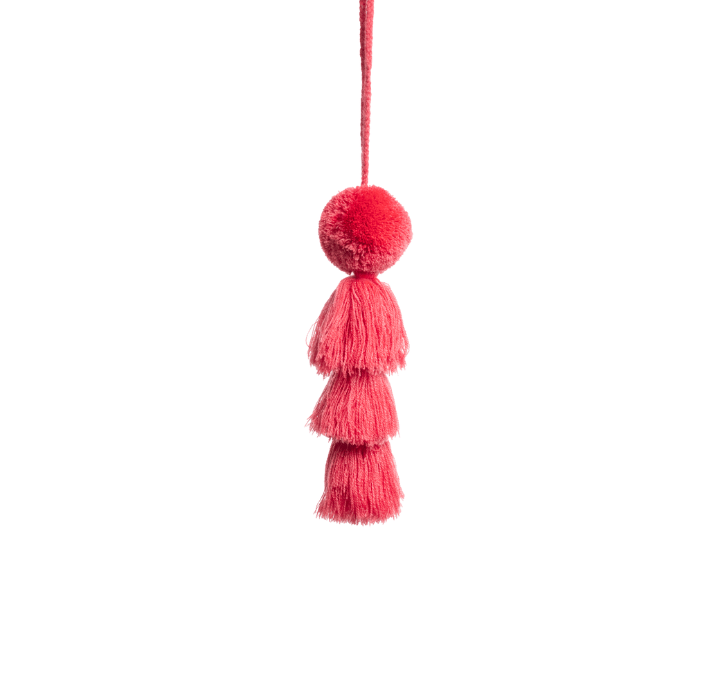 Large Pom Tassel - Deep Coral - Josephine Alexander Collective