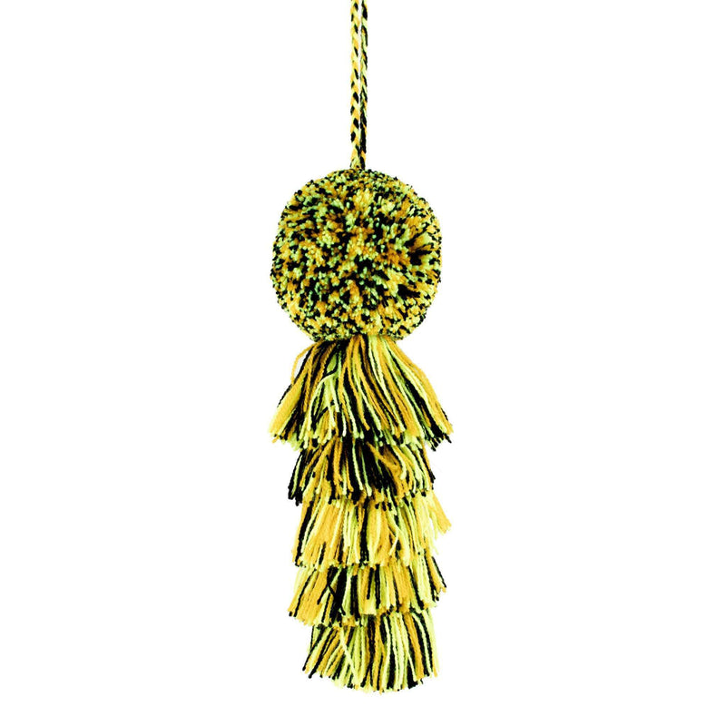 Large Pom Tassel in Black and Gold - Josephine Alexander Collective