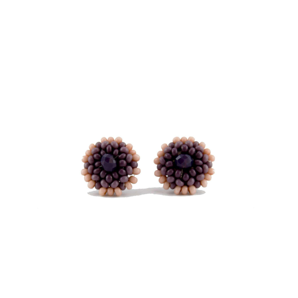 Beaded Studs in Lavender