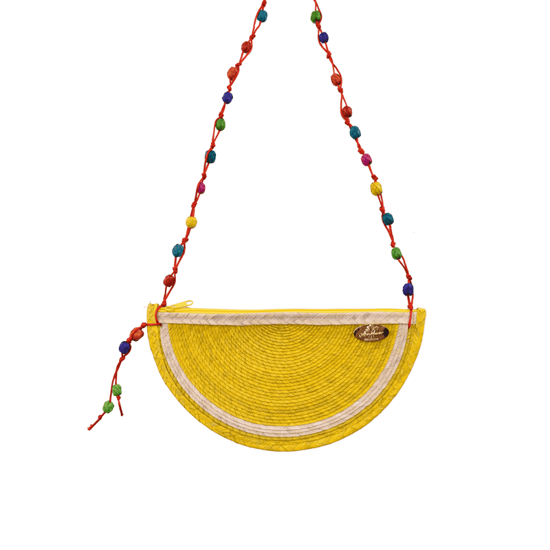 Juicy Lemon Straw Crossbody - Josephine Alexander Collective