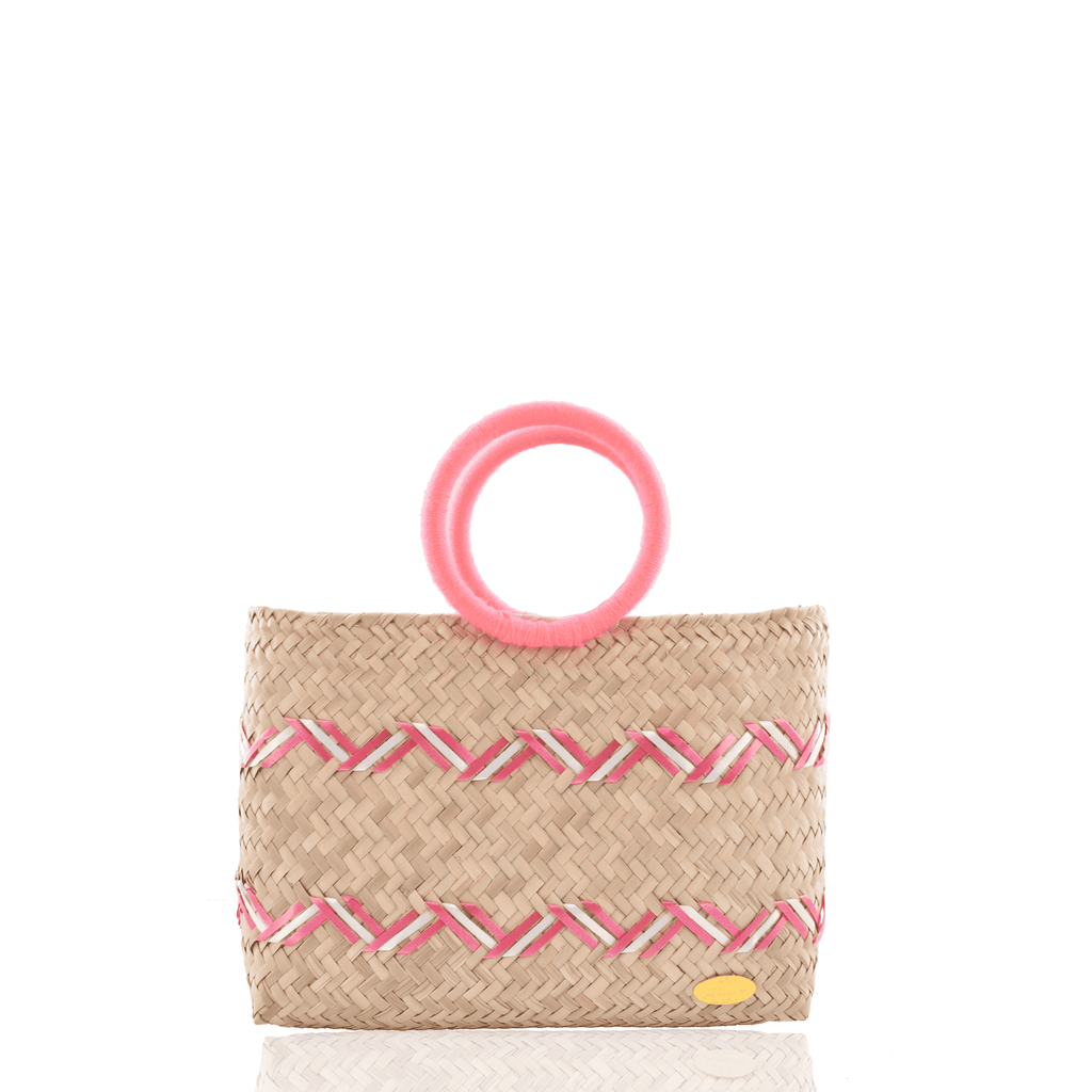 Kelly Handbag in Straw in Light Pink - Josephine Alexander Collective