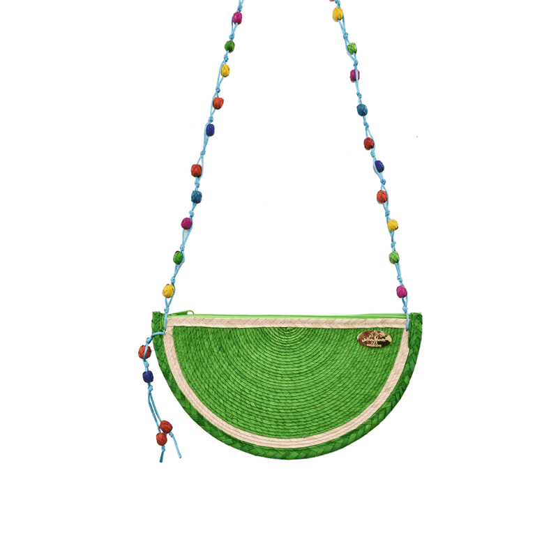 Juicy Lime Straw Crossbody - Josephine Alexander Collective