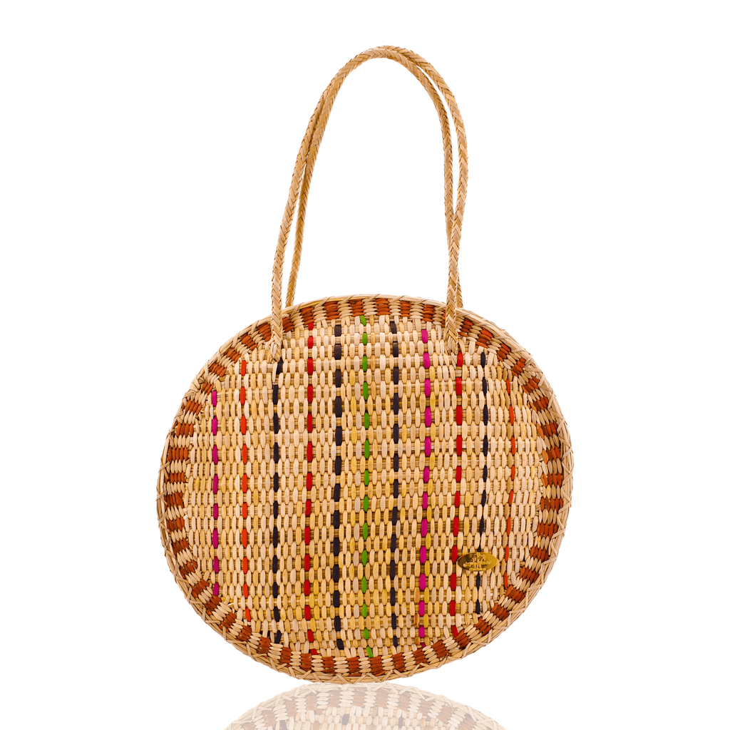 Luna Straw Bag in Caramel - Josephine Alexander Collective