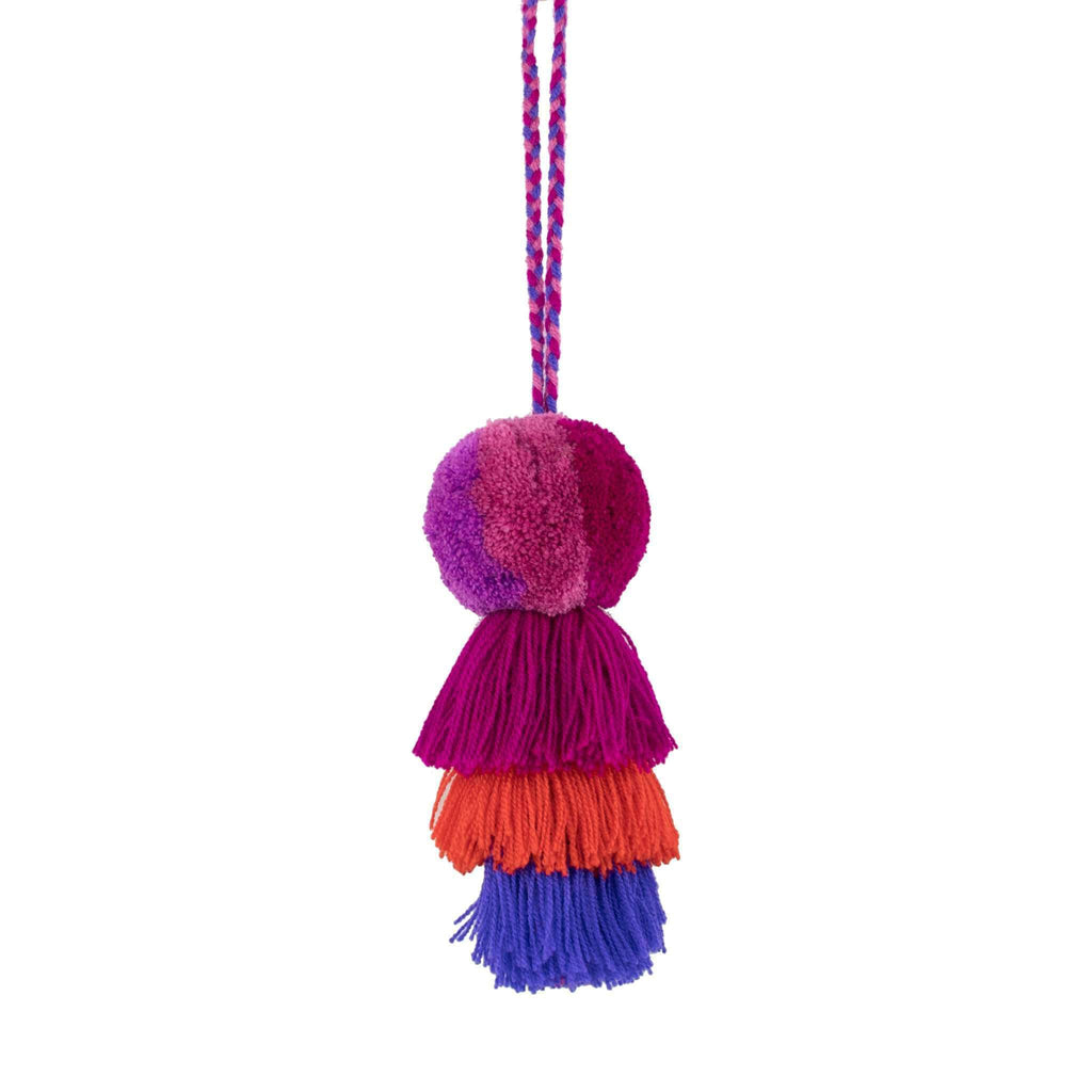 Medium Pom Tassel in Blue Raspberry