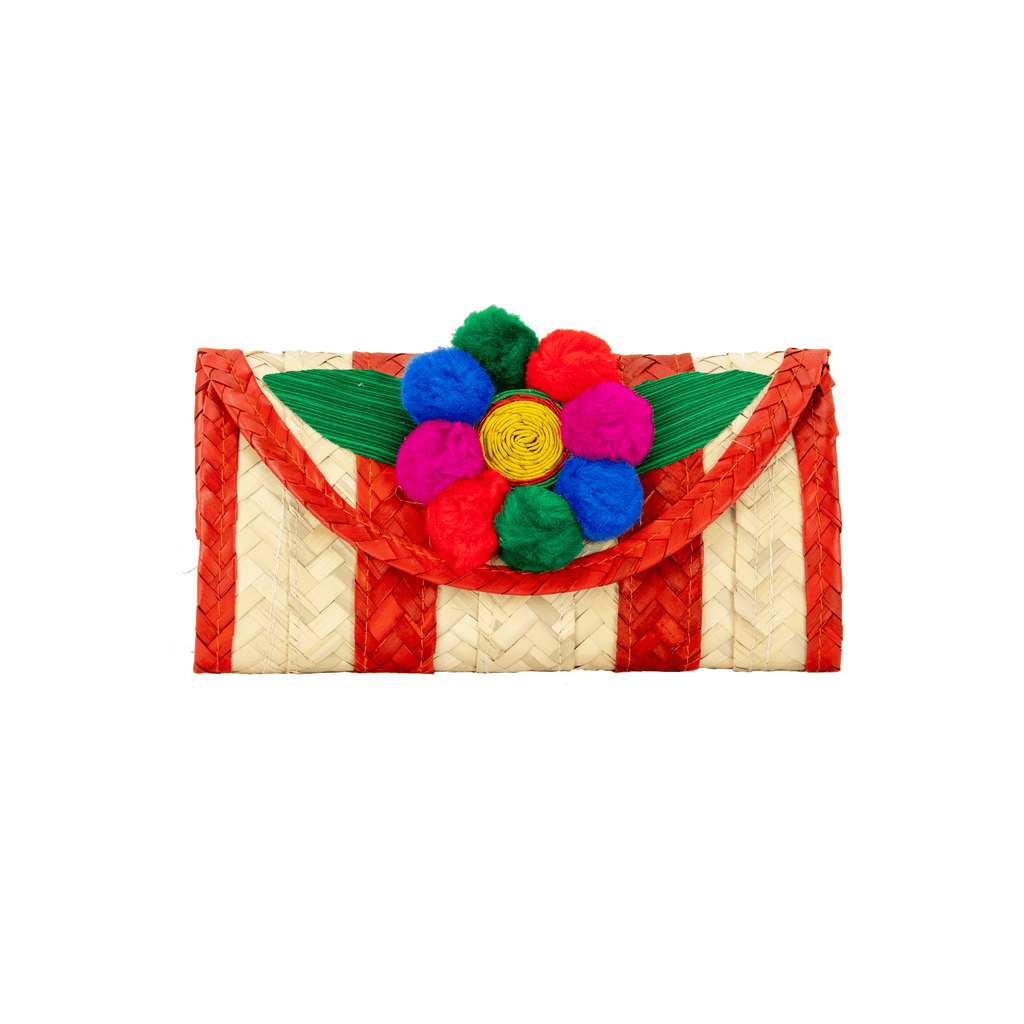 Melissa Pom Wallet in Orange - Josephine Alexander Collective