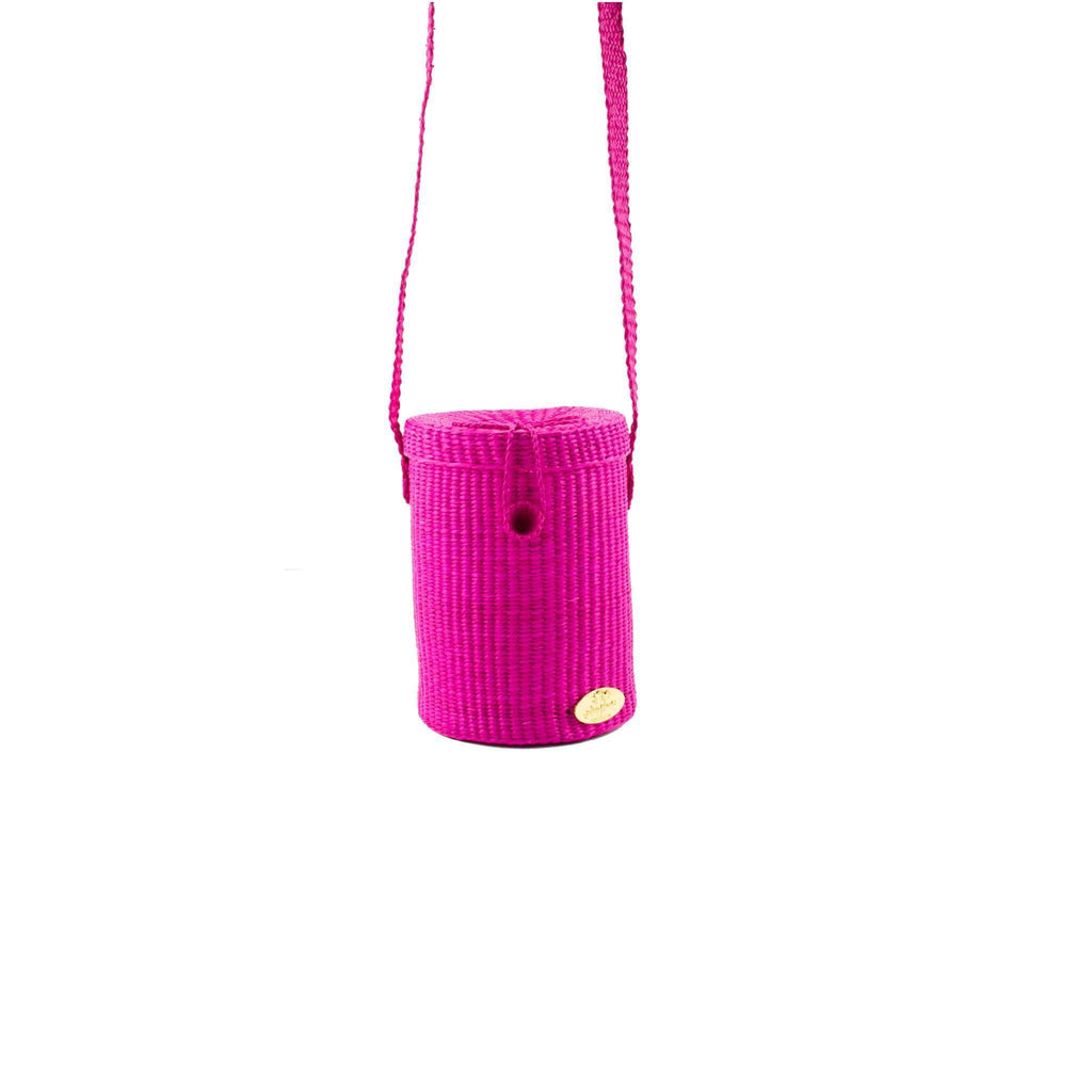 Mina Straw Crossbody in Rosa - Josephine Alexander Collective