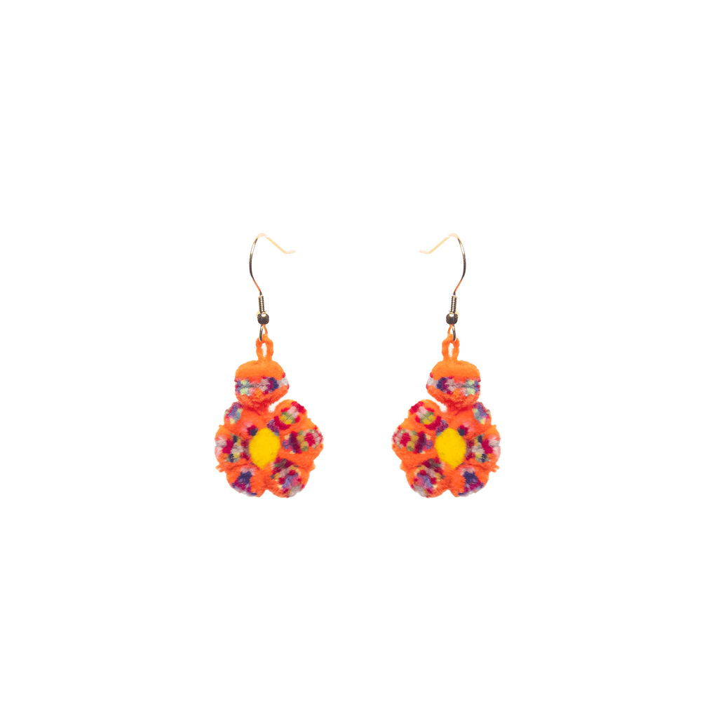 Mini Flower Earrings Orange Confetti - Josephine Alexander Collective