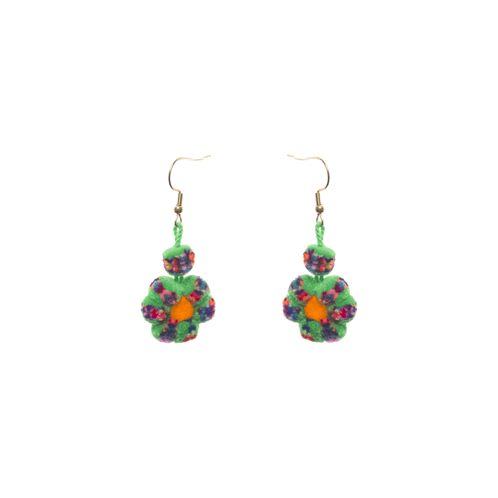 Mini Flower Earrings in Green Confetti - Josephine Alexander Collective