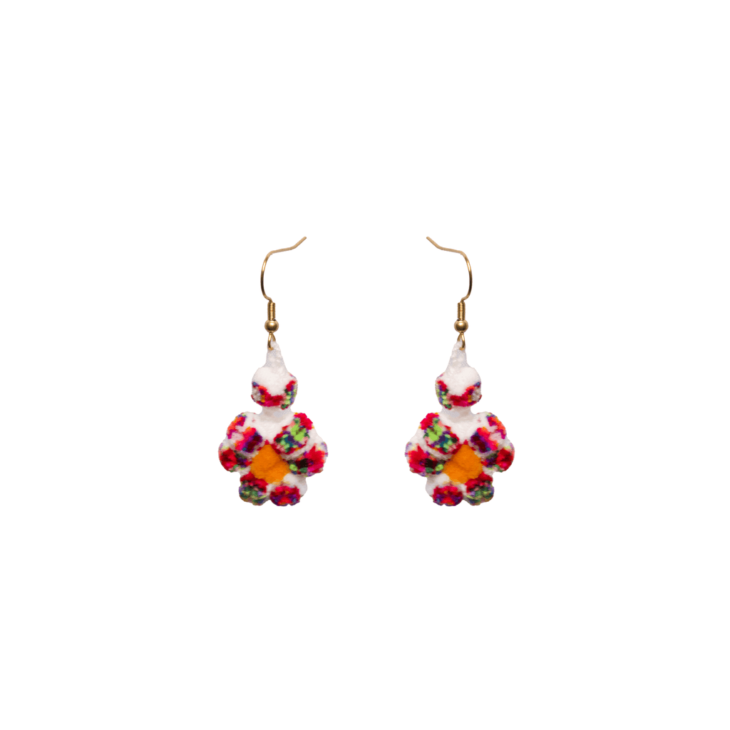 Mini Flower Earrings in White Confetti - Josephine Alexander Collective