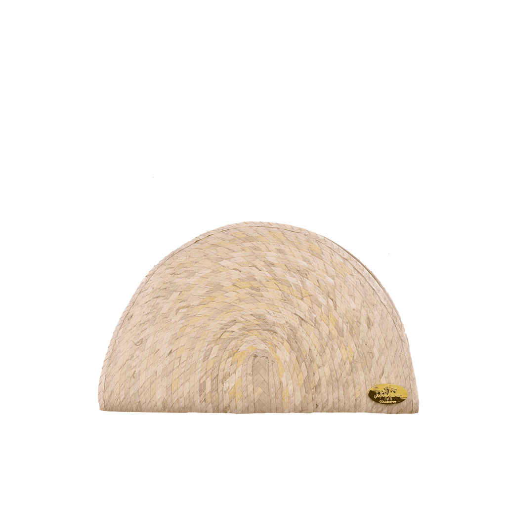 Sevillana Straw Clutch in Natural - Josephine Alexander Collective