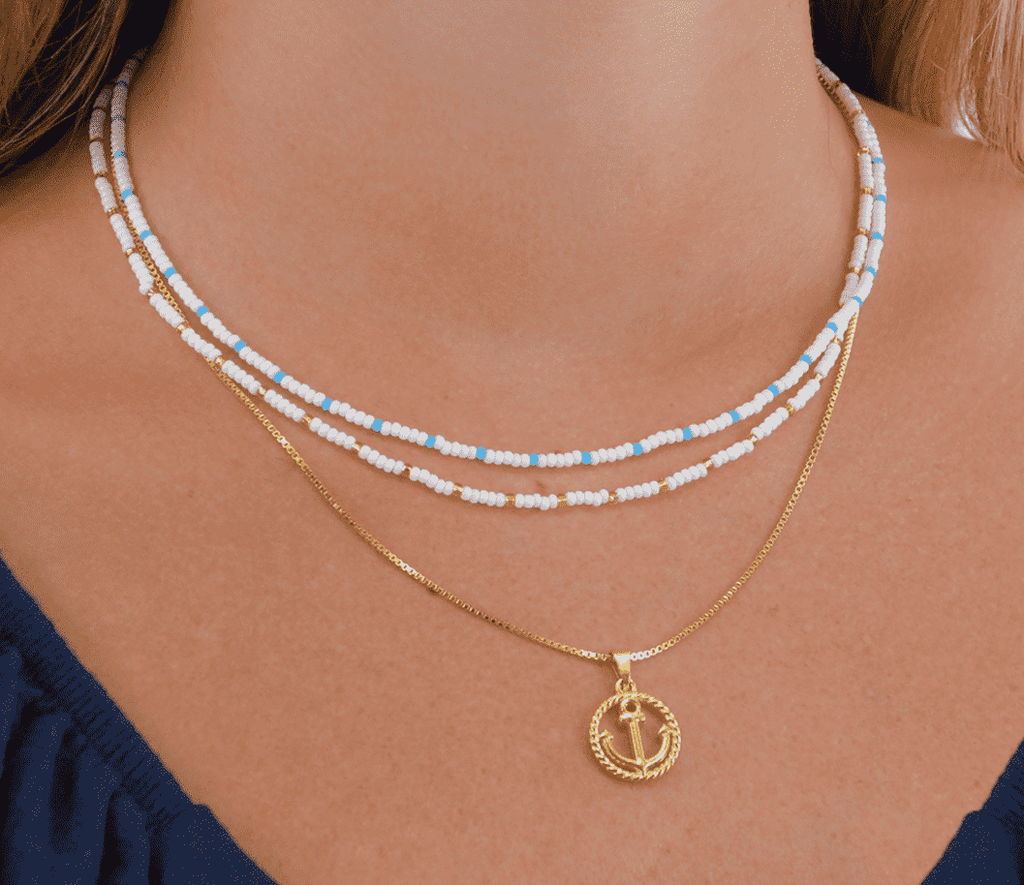Nautical Babe Necklace Stack - Josephine Alexander Collective