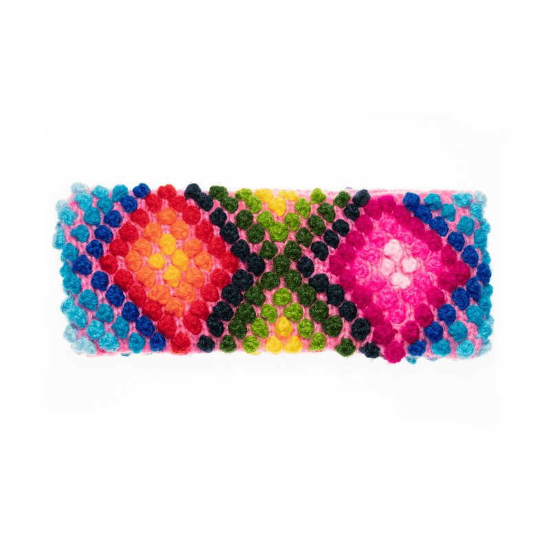 Nazca Earwarmer in Technicolor Pink